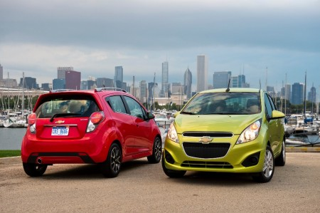 México - Julio 2014: El Chevrolet Spark llega al podio