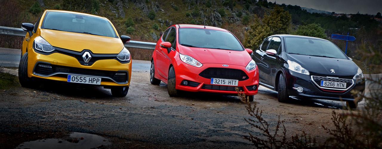 Villanos de la ciudad: Fiesta ST, Clio RS, 208 GTi