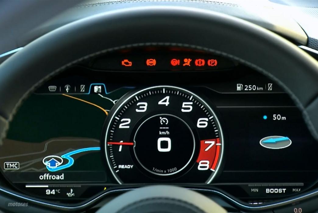 El Audi Virtual Cockpit en funcionamiento
