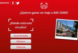 Gana un viaje al GP de Abu Dhabi de F1 con el Banco Santander