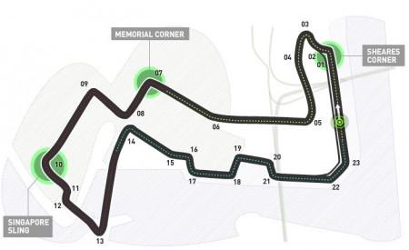 Agenda, horarios del GP de Singapur F1 2014 y datos del circuito