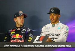 Hamilton y Vettel proponen mejorar el neumático de lluvia extrema de Pirelli