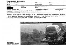 Le multan por exceso de velocidad cuando el vehículo iba en una grúa