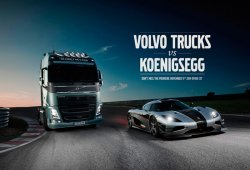 Volvo Trucks desafía al Koenigsegg One:1, esto no me lo pierdo