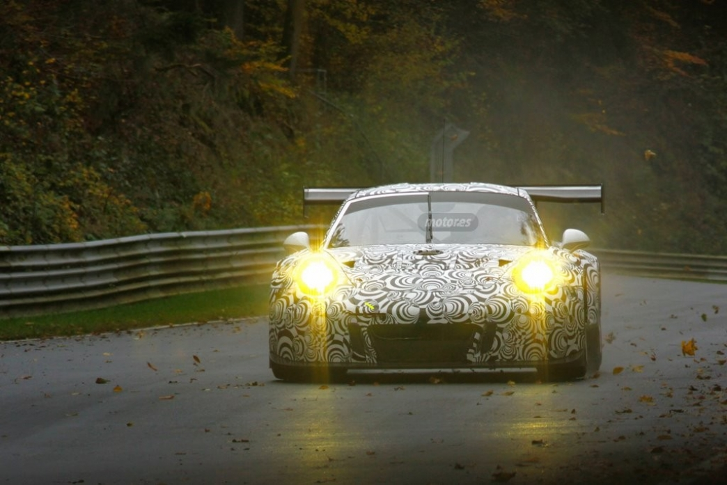 Porsche 911 RSR 2015, fotos espía en Nürburgring