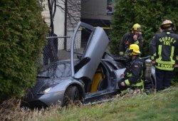 Una cámara capta, en directo, el accidente de un Lamborghini Murciélago