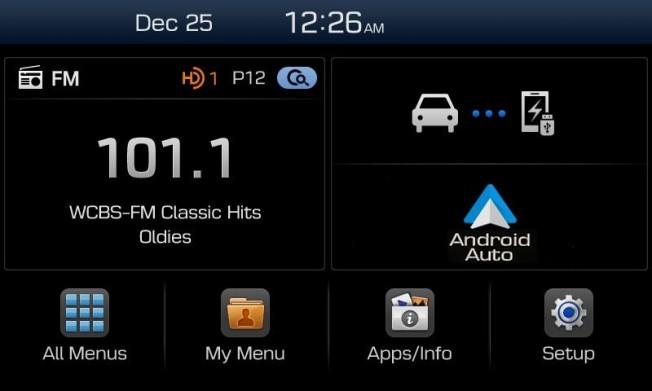 hyundai display audio nuevo sistema multimedia compatible con apple carplay y android auto. Black Bedroom Furniture Sets. Home Design Ideas