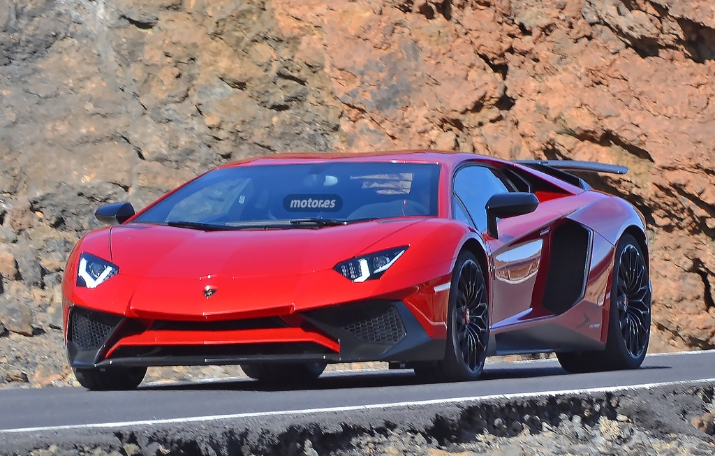 Lamborghini Aventador SV, pillado completamente al descubierto