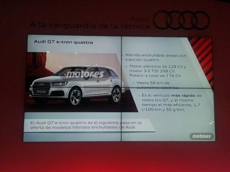 Audi Q7 e-tron quattro 2015, autonomía eléctrica de 58 kilómetros