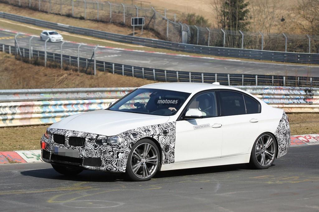 BMW Serie 3 2016 híbrido, cazado en Nürburgring