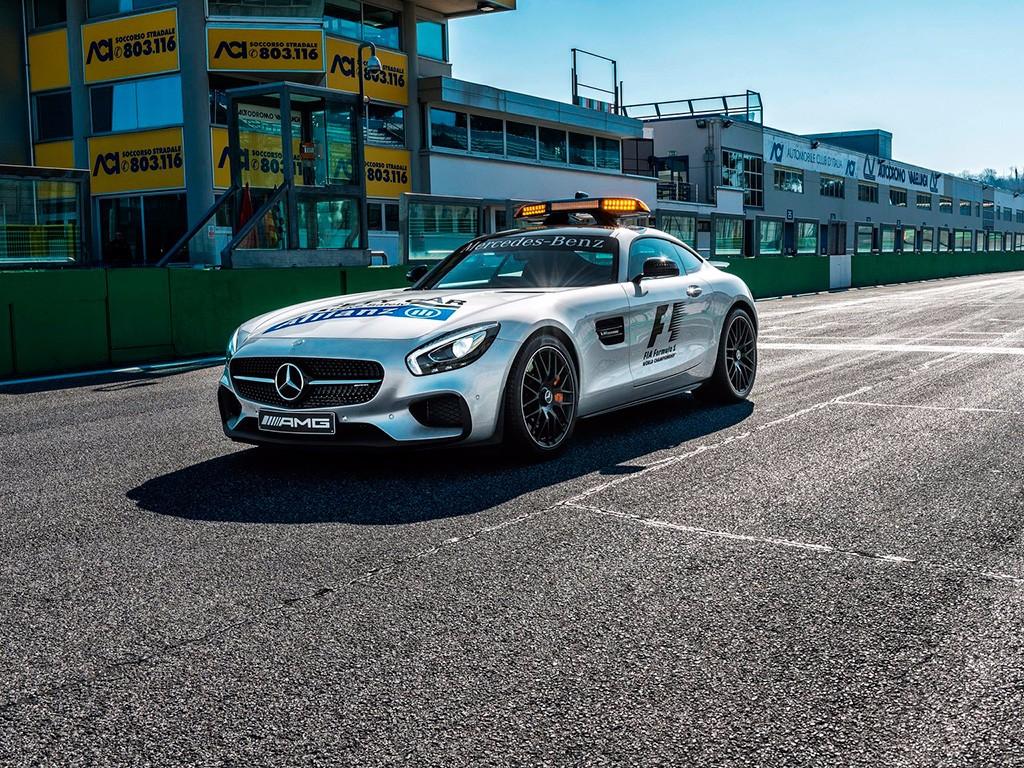 Mercedes AMG GT S F1 Safety Car, dispuesto para dirigir las carreras