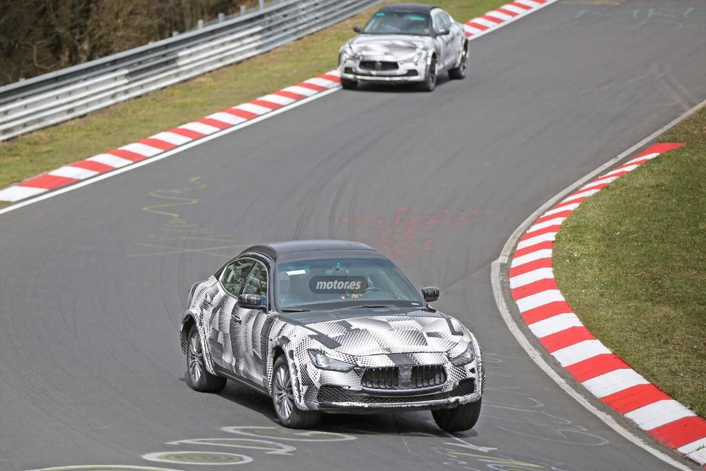 El chasis del Maserati Levante 2016 avistado en Nürburgring