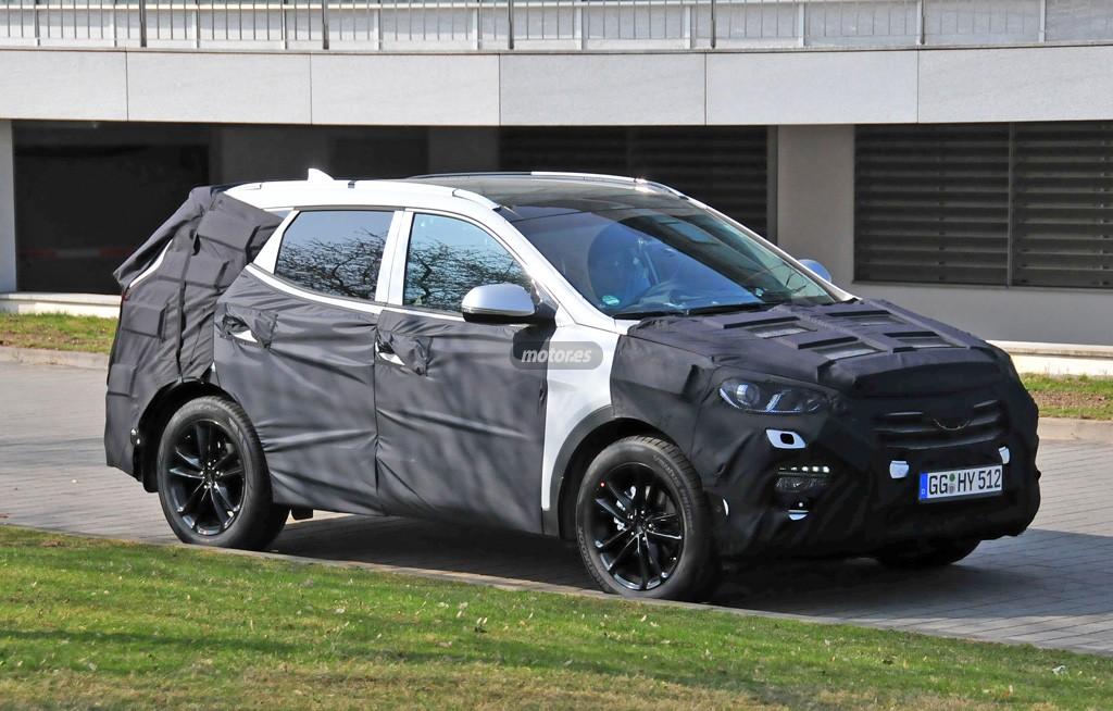 Hyundai Santa Fe 2016 de pruebas en Europa
