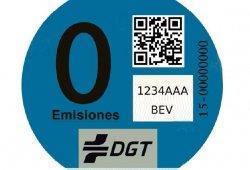 """Este es el nuevo """"Distintivo Cero Emisiones"""" expedido por la DGT"""