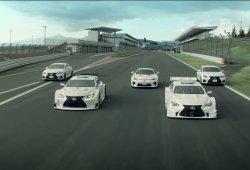 Lexus RC F y LFA haciendo drifting en el Circuito de Fuji