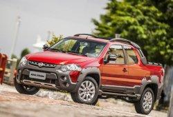 Brasil - Marzo 2015: El Fiat Strada da la sorpresa