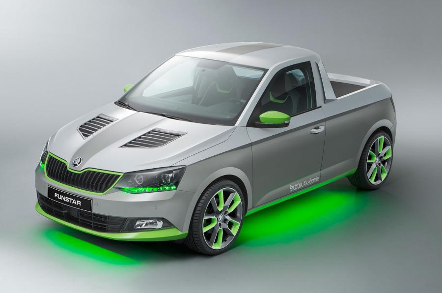 Skoda FUNstar, transformando un Fabia en una pick-up deportiva