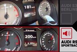 Los Audi RS3 y S3 Sedán se baten a duelo en un 0 a 200 km/h