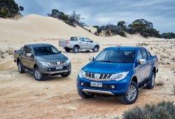 Australia - Julio 2015: El Mitsubishi L200 coge impulso