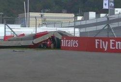 Accidente de Carlos Sainz en la FP3 del GP de Rusia