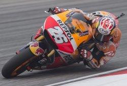 Rossi por delante de Lorenzo en la pole de Dani Pedrosa