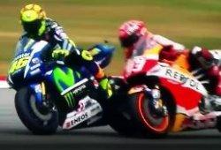 Sanción a Valentino Rossi por tirar al suelo a Marc Márquez