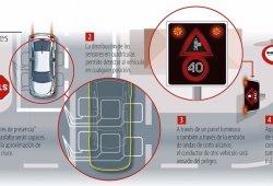 La DGT instala las primeras señales inteligentes de tráfico cruzado