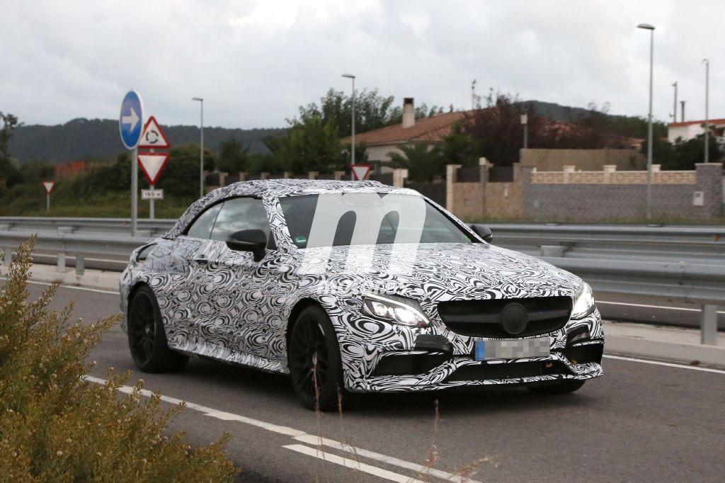 Pillado el Mercedes AMG C63 Cabrio 2016 con su carrocería definitiva