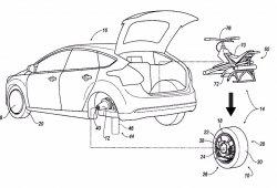Ford patenta un monociclo que usa una rueda de tu coche