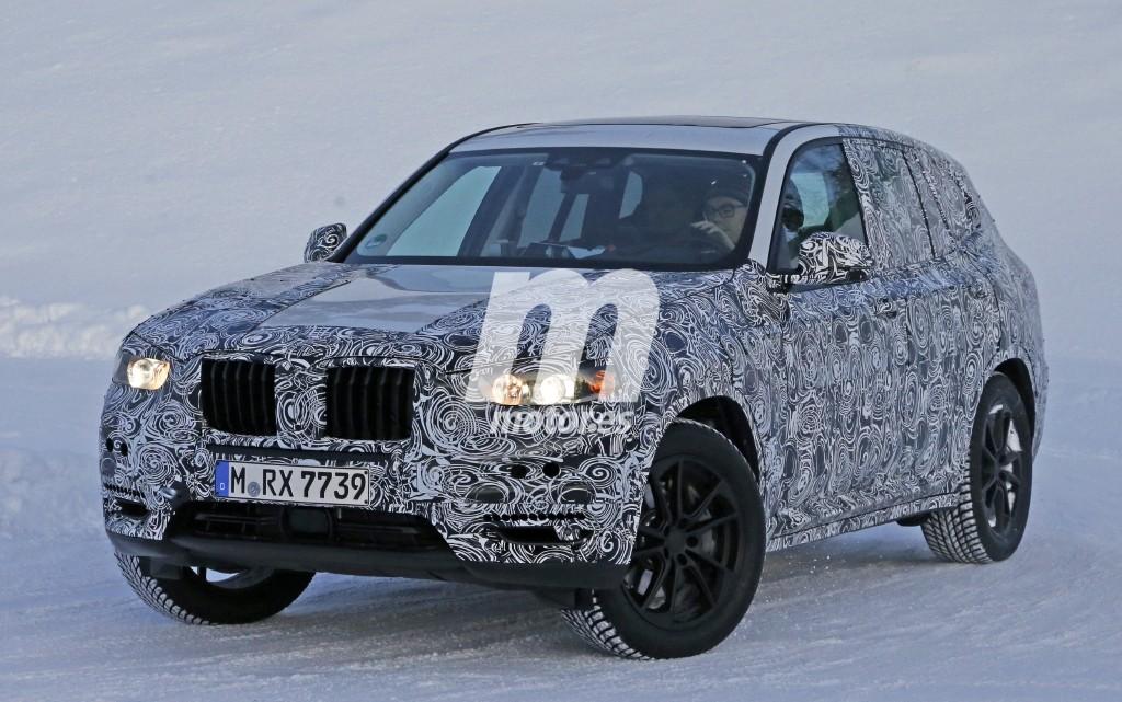 BMW X3 2017, nuevos detalles en sus pruebas invernales
