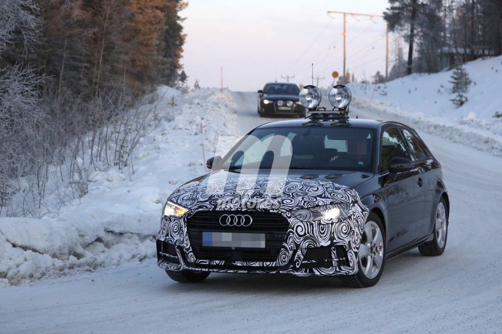 Audi A3 2017, el tres puertas se muestra con su próximo 'facelift' y pack S line