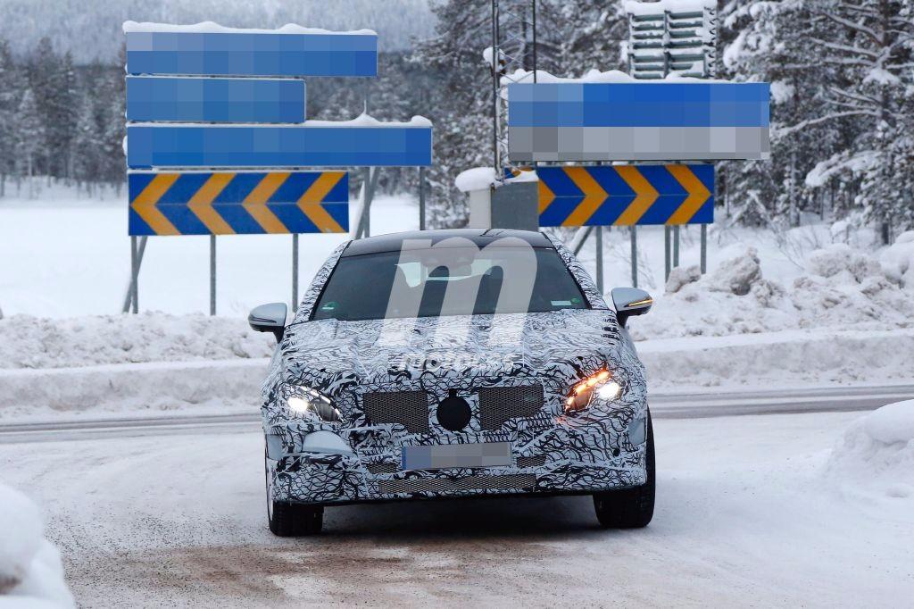 Mercedes Clase E Coupe 2017, de pruebas en la nieve