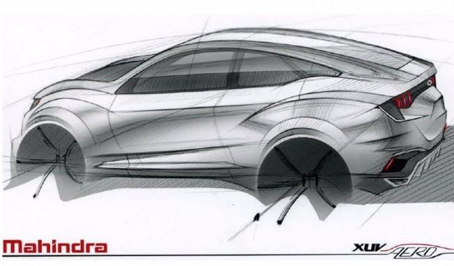 Boceto del Mahindra XUV Aero Concept