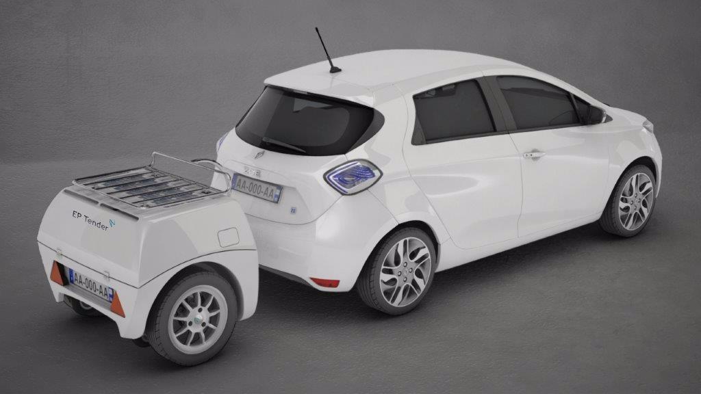 EP Tender B00, remolque para extender la autonomía de nuestro coche eléctrico