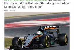 Alfonso Celis Jr. debutará con Force India en Bahrein