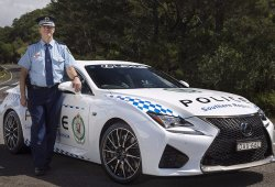 La policía australiana recibe un Lexus RC F
