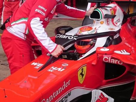 Ferrari prueba en Montmeló la propuesta de halo para cerrar el cockpit