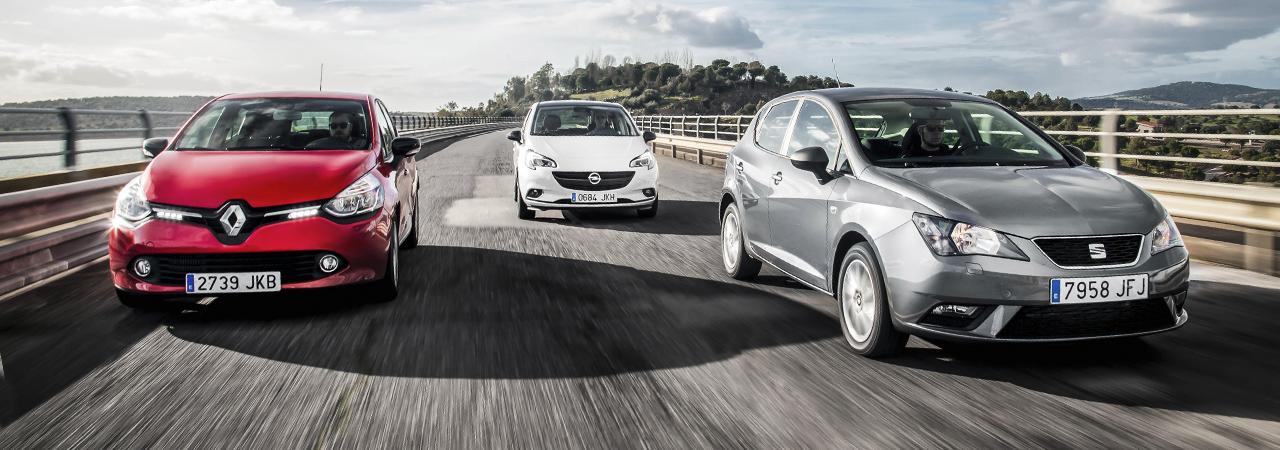 Comparativa de utilitarios: Seat Ibiza,  Opel Corsa y Renault Clio