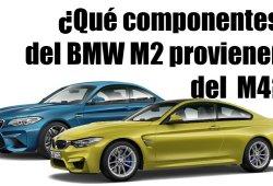 ¿Qué componentes del BMW M2 provienen del M4?