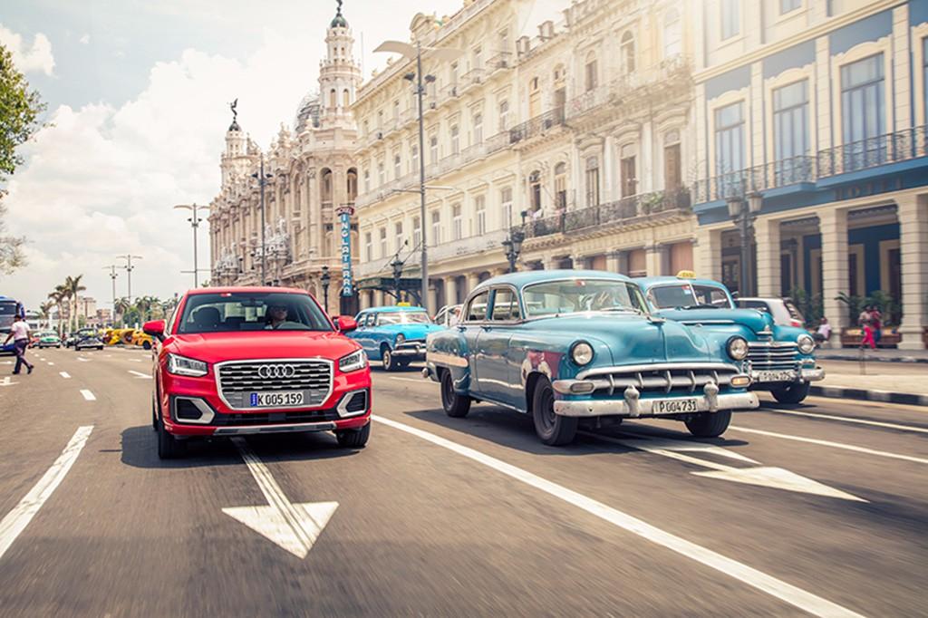 Así es el contraste de conducir un Audi Q2 en la Habana