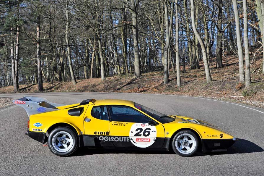 Los raros y veteranos Ferrari amarillos de competición: Berlinetta Boxer 512 de 1978