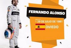 Fernando Alonso celebra su 35º cumpleaños