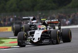 Force India celebra su mejor resultado en Silverstone