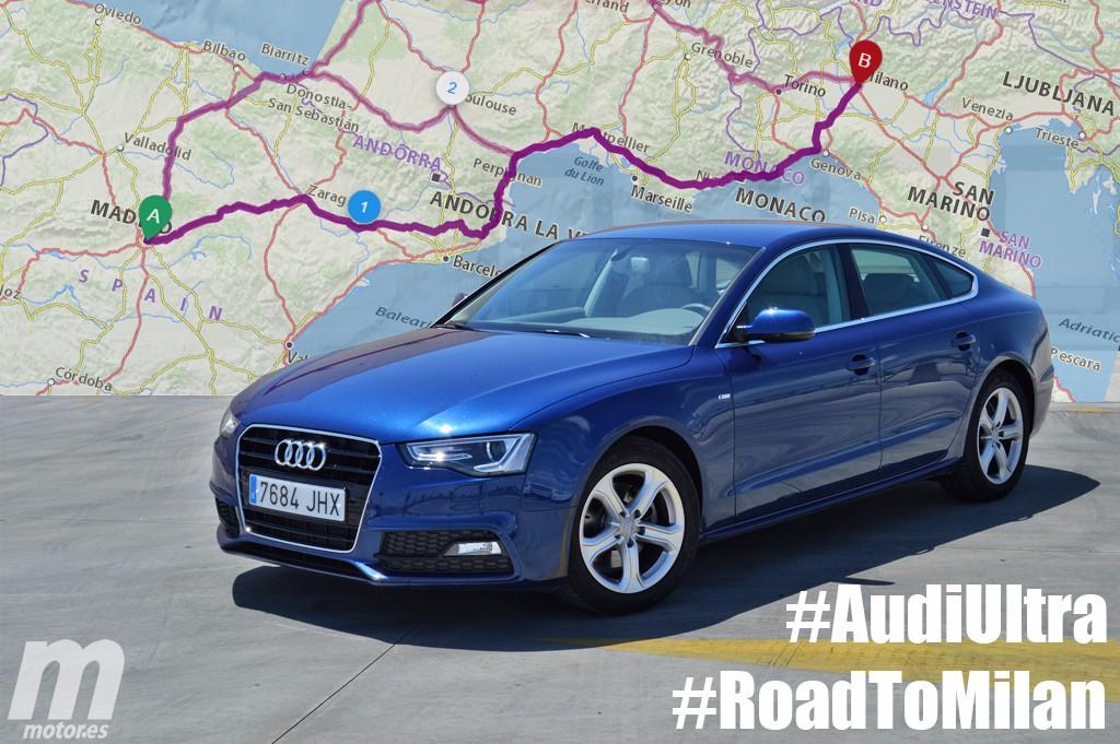 Madrid-Milán-Madrid, 3.200 kilómetros de eficiencia con un Audi A5 Sportback Ultra