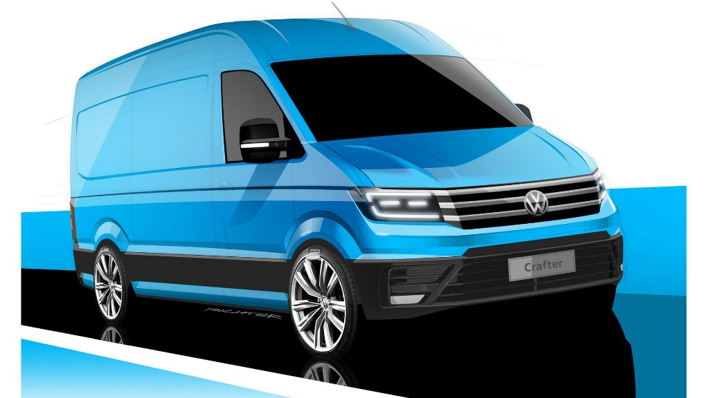 Así será la Volkswagen Crafter 2017: primer adelanto de su diseño