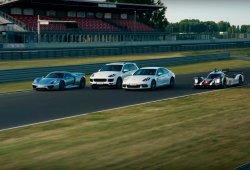 Porsche reúne a sus híbridos y eléctricos en un impresionante vídeo promocional