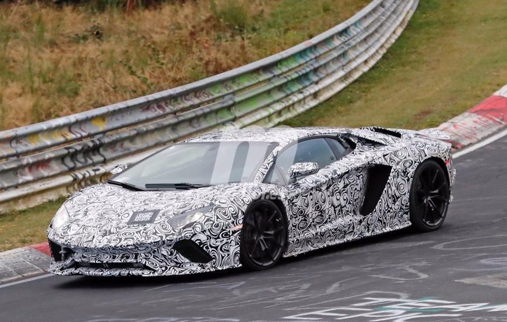 Cazamos el nuevo Lamborghini Aventador 2018 coupé