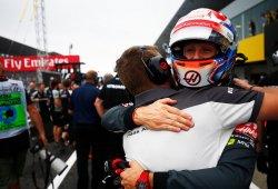 Haas celebra su mejor clasificación de la temporada