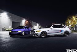 IND ha preparado un dueto de BMW M2 y M4 para el SEMA Show 2016