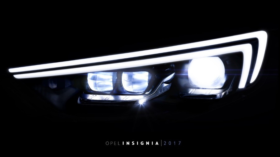 Opel comienza a destapar el Insignia mostrando sus nuevos faros IntelliLux LED
